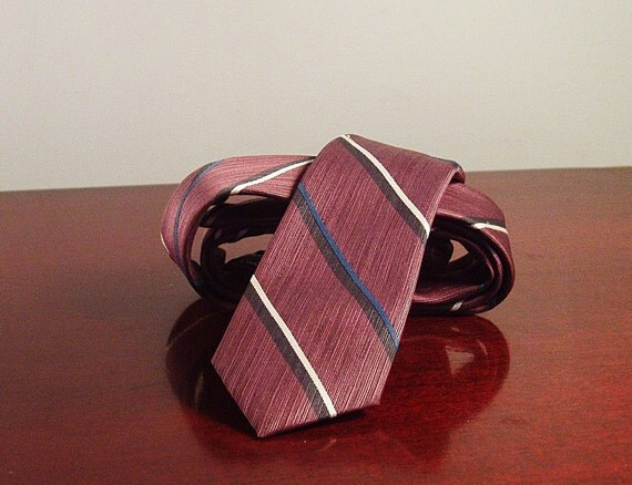80s Sergio Valente Semi Skinny Tie Reclaimed Mens Fashion