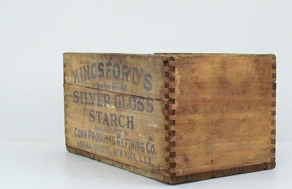 Vintage Box Weathered Wooden Rustic Farmhouse Home Decor Storage