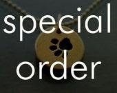 SPECIAL ORDER for Minerva - Tiny Gold Paw Print Bracelet