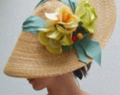 V I P Special Listing.  My Fair Lady,  Elegant Society Hat. Haute Couture Summer Millinery ... Beauty Looks The Way Love Feels ...