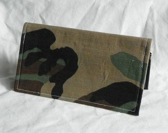 Camouflage Checkbook cover w/ matching bookmark Camo Fathers Day
