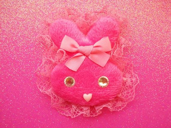 Super Kawaii Fuzzy Bunny Clip