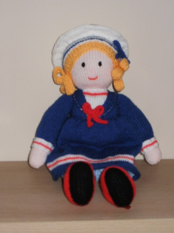 Hand Knit Charlotte Doll