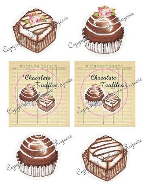 Chocolate Truffles  Printable .JPG Digital Images