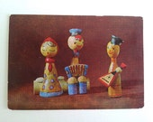 Vintage 1972 pocket calendar with Russian dolls