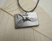Japanese Maple Seed Helicopter Tile Pendant, Recycled Cast Aluminum