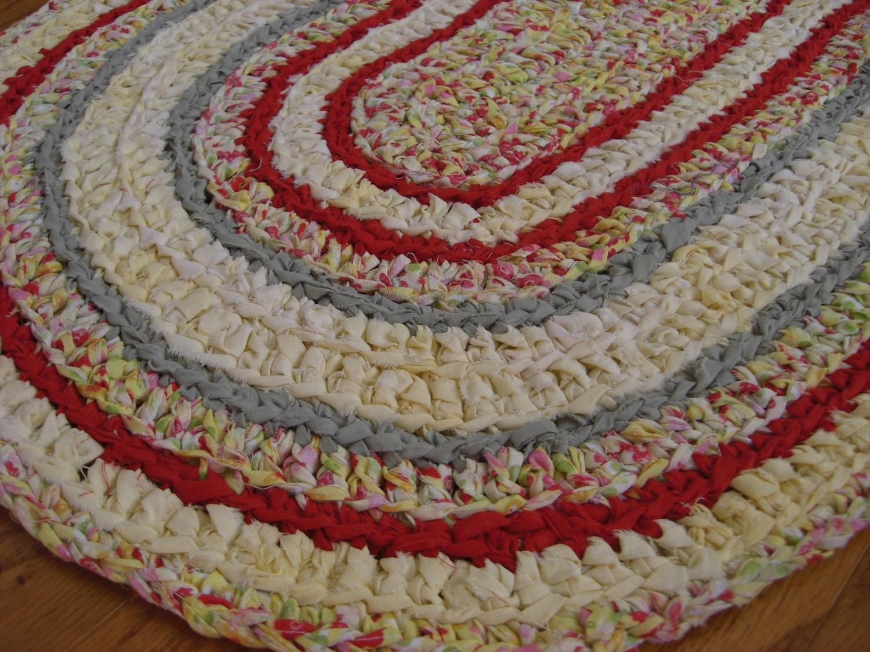 Free Crochet Pattern For Oval Rag Rug : crochet rag rug oval Puddin n Pie