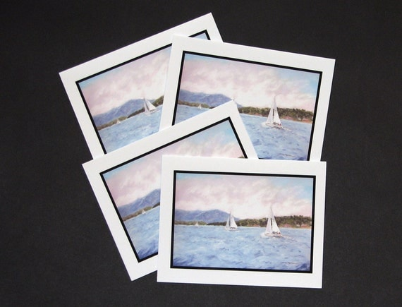 Rascal and Crew, Smith Mountain Lake (4 Note Cards)