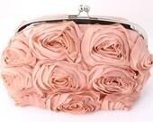 """The """"Vintage Peach Bouquet""""- Evening Bag"""