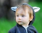 Raccoon Hoodie Zipper, Raccoon costume, kids costume