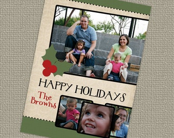 Christmas/ Holiday photo card, digital, printable file