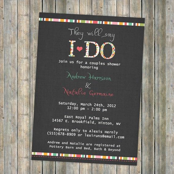 I DO couples shower, wedding, bridal, digital, printable file