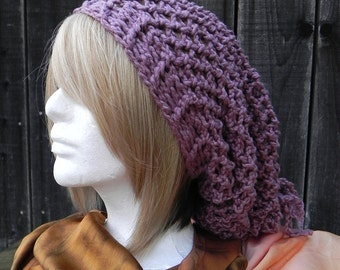 slouchy beanie, sloppy beanie, bohemian beanie, Purple Haze Slouchy Hat, boho beanie, slouchy beanies for women, FREE DOMESTIC SHIPPING