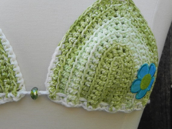Crochet Pattern Bikini Top by ChewsyByDesign on Etsy