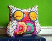 Stuffed Animal Owl Pillow - Sleepy Snuggle for your Modern Baby
