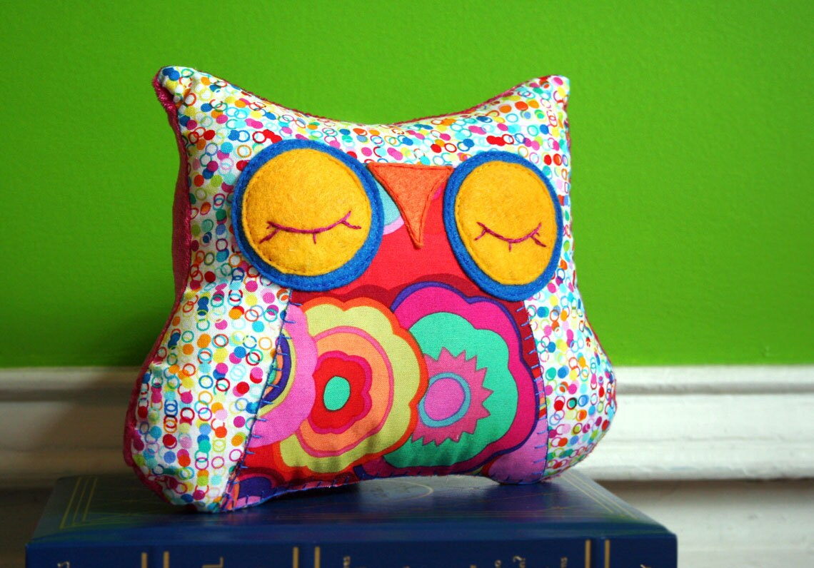 Animal Snuggle Pillows : Stuffed Animal Owl Pillow Sleepy Snuggle for your by MioBabyVerdi