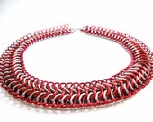 Red Chainmail necklace