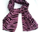 Hot Pink Zebra Scarf, Animal Print Scarves for Spring