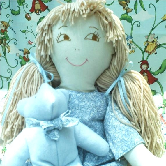 Rag Doll, Handmade Rag Doll, Child Friendly, Soft, Stuffed Girl Doll Baby, Girls Doll, Cloth Doll, BeesQualityGarments