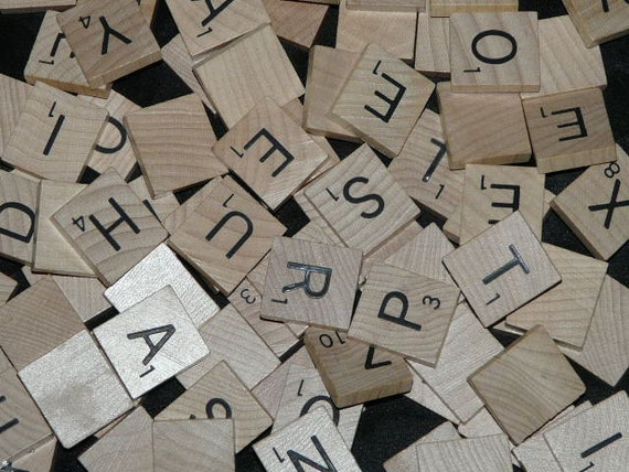 Bulk Scrabble Tile Lot Wood Letters from 1 Game 3/4 in Square wooden black alphabet letters for jewelry crafts etc