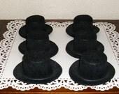 Mini Black Felt Top Hats 6 - 3 Inch