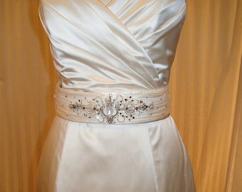 Super Sample Sale Wedding Belt with vintage inspired Hand Beadings