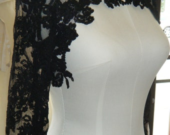 Couture lace bolero ,,, High Fashion, Black lace
