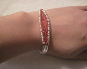 Wire Knit and Wrapped Cuff