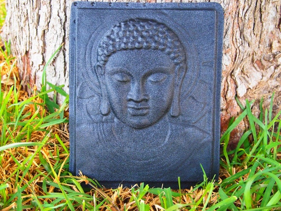 Buddha Wall Plaque Mold Plaster Concrete Cement ABS Plastic Mold No.1 New