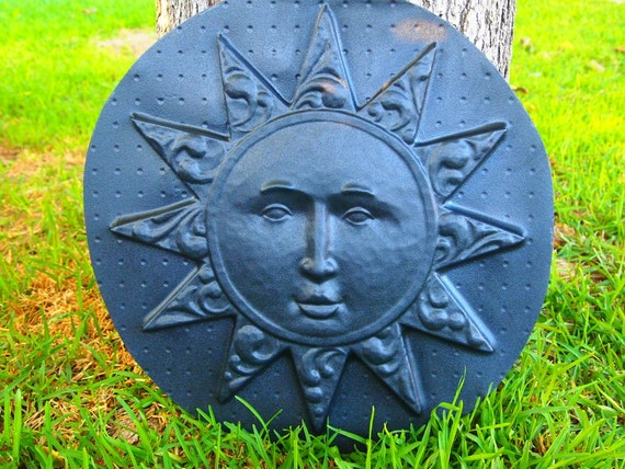 sun wall plaque mold abs plastic plaster cement concrete. Black Bedroom Furniture Sets. Home Design Ideas