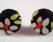 Little Flower button post earrings.