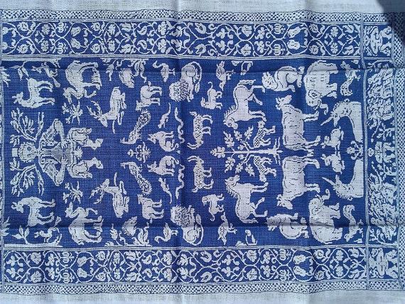 Vintage Tapestry Tea Towel