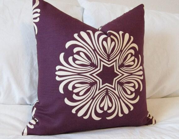 "New Designer 20X20"" Throw Pillow Cover in Duralee Breckenbridge Purple"
