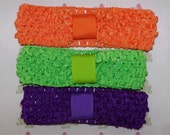 1.5 inch Crochet Headband Value Pack - Fall Harvest (Orange, Lime, Purple)
