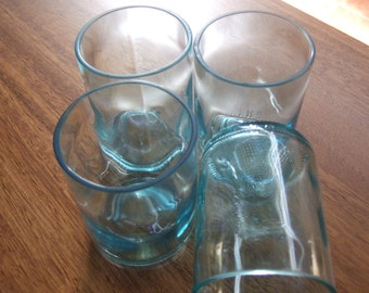 Recycled wine bottle glasses set of 4