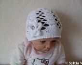 Handmade Crochet Baby Hat with Flower new