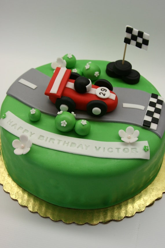 Items similar to Racing Car Cake Topper on Etsy