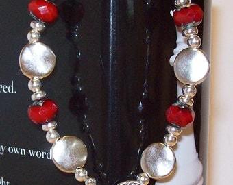 Twilight Inspired Czech Glass Bead Bracelet