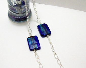 Mosaic Rectangle Glass Necklace