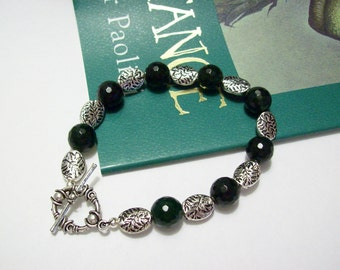 Inheritance Cycle Inspired Arya & Firnen Green Jade Bracelet