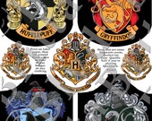 Sorting Stickers Student Wizard House Badges - PDF Digital Download