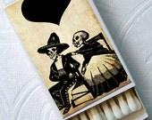 Sugar Skulls Holiday Gothic Día de los Muertos Day of the Dead Set of 4 Match Boxes