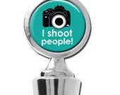 I Shoot People Photographer Camera Wine Stopper House Warming Gift Trendy