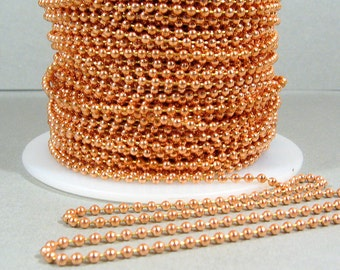 100% Copper Ball Chain 2mm - GC129 - Choose Your Length