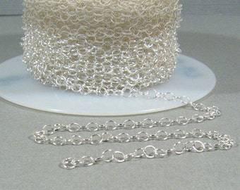 Fine Circle Chain - Silver Plated - CH13 - Choose Your Length