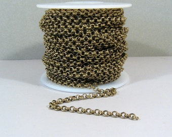 5ft Rolo Chain - Antique Brass - CH12
