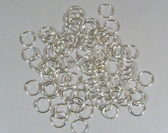 10mm Silver  Plated Jump Rings