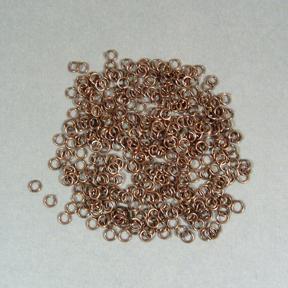 4mm Antique Copper Jump Rings