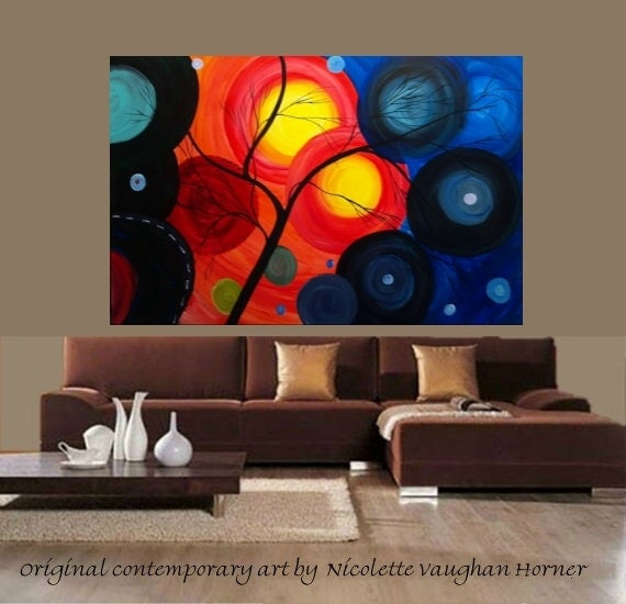 "XXXLarge 60""x40"" painting on canvas by Nicolette Vaughan Horner"