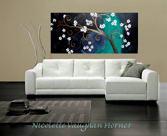 Original Contemporary modern art  Impasto style art painting by Nicolette Vaughan Horner